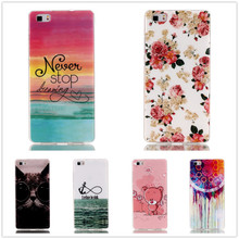 For Fundas Huawei P8 Lite Case Cartoon Animal Owl Painting Soft TPU Silicon Cover P8 P8 lite Drawing Print Case P8lite Capa Para