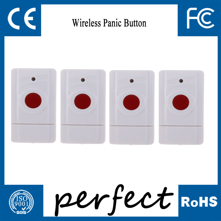 4pcs wireless panic button used for emergency help SOS wireless home security alarm system(China (Mainland))