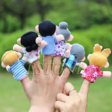 2015 Hot Sales 10x Cartoon Biological Animal Finger Puppet Plush Toys Dolls Child Baby Favor Free shipping(China (Mainland))