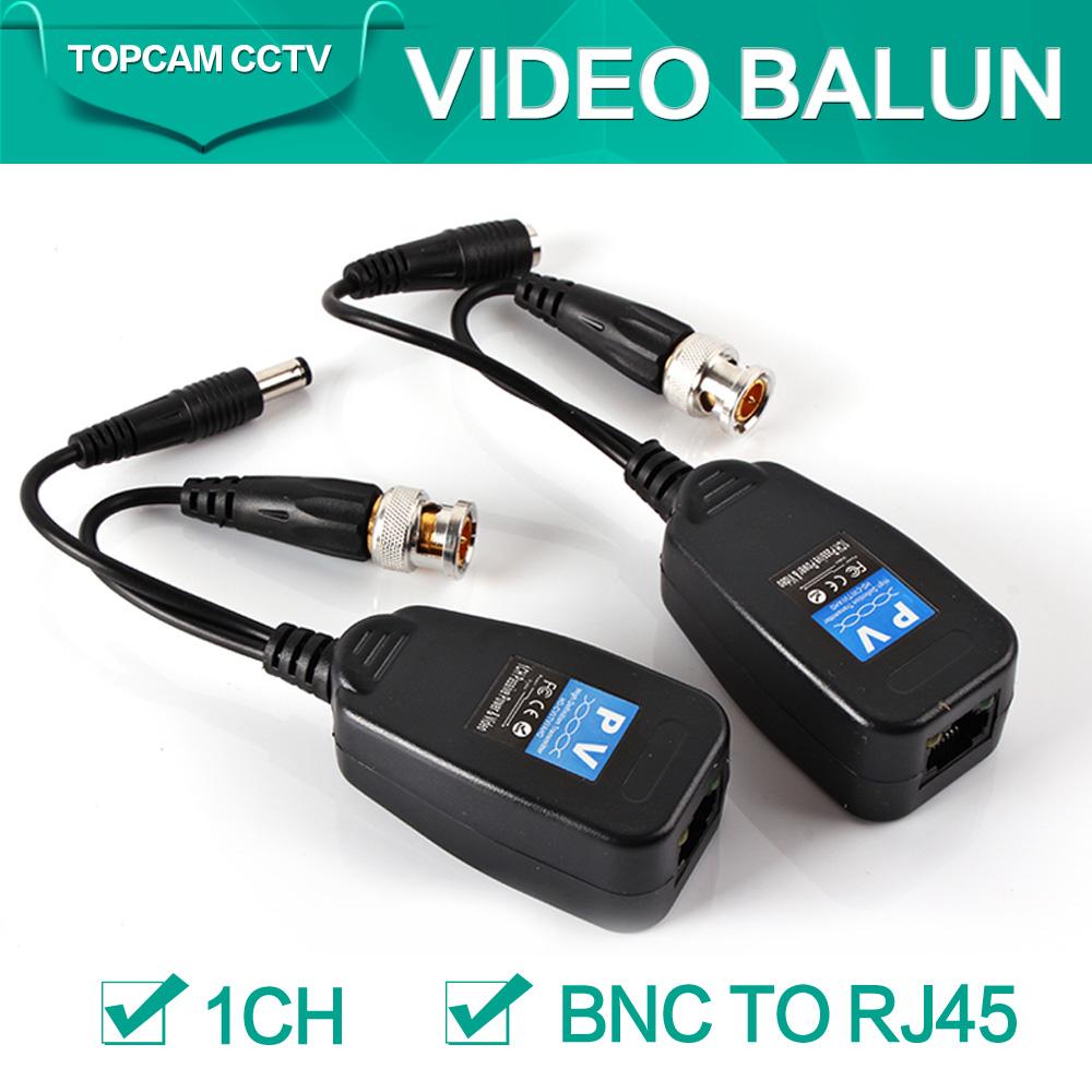 1CH Video Balun Passive Supply Power For Analog AHD/TVI/CVI Camera,Power-Video Signal Are Routed Via UTP&RJ45(China (Mainland))