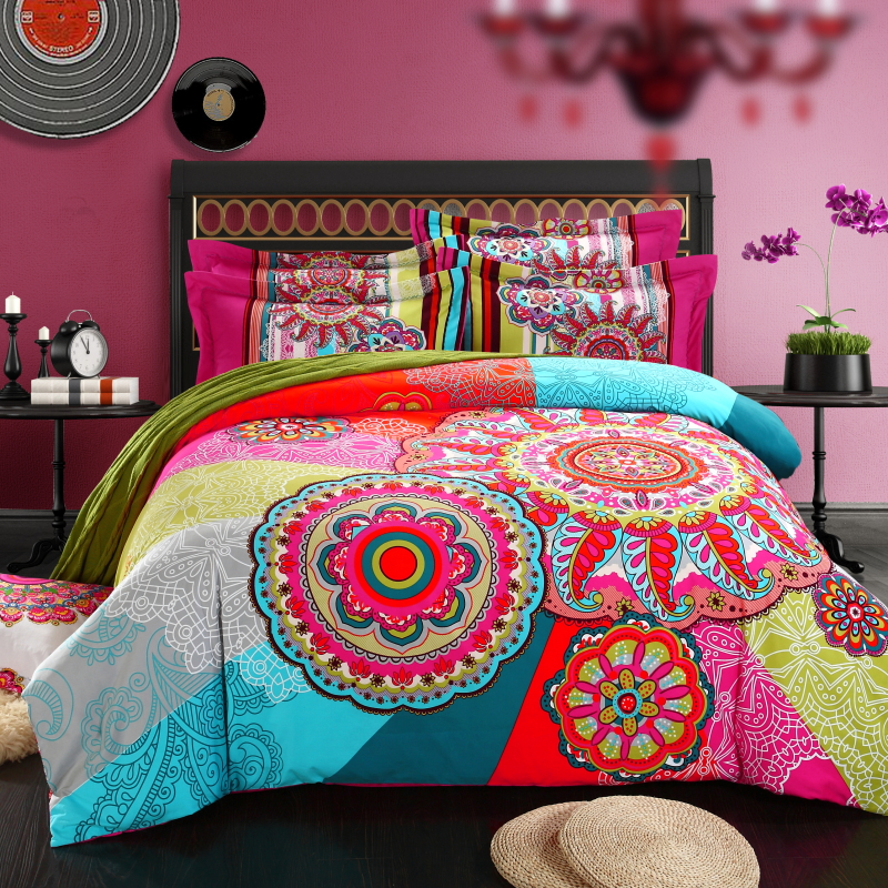 Popular bohemian style bedding buy cheap bohemian style bedding lots from china bohemian style - Funda nordica conforama ...