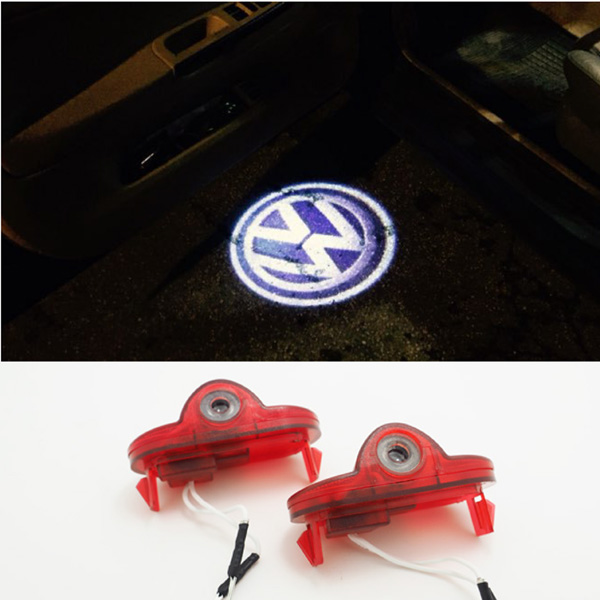 LED Door Logo Projector Light Ghost Shadow Light For Volkswagen VW Caddy Touran Beetle Golf 4(China (Mainland))