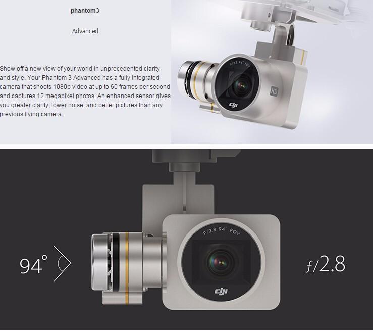 DJI Phantom 3 Advanced Version With 1080P HD Camera RC Quadcopter RTF In stock