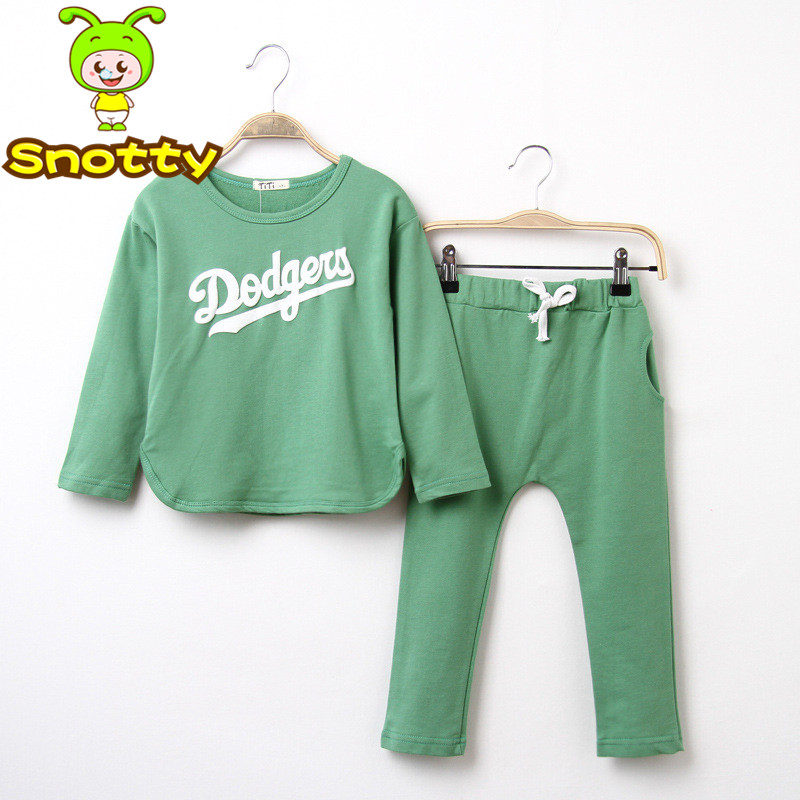 2014 Newest kids jogging suit children hoodies+casual pant girls boutique clothing for 3 10 age ...