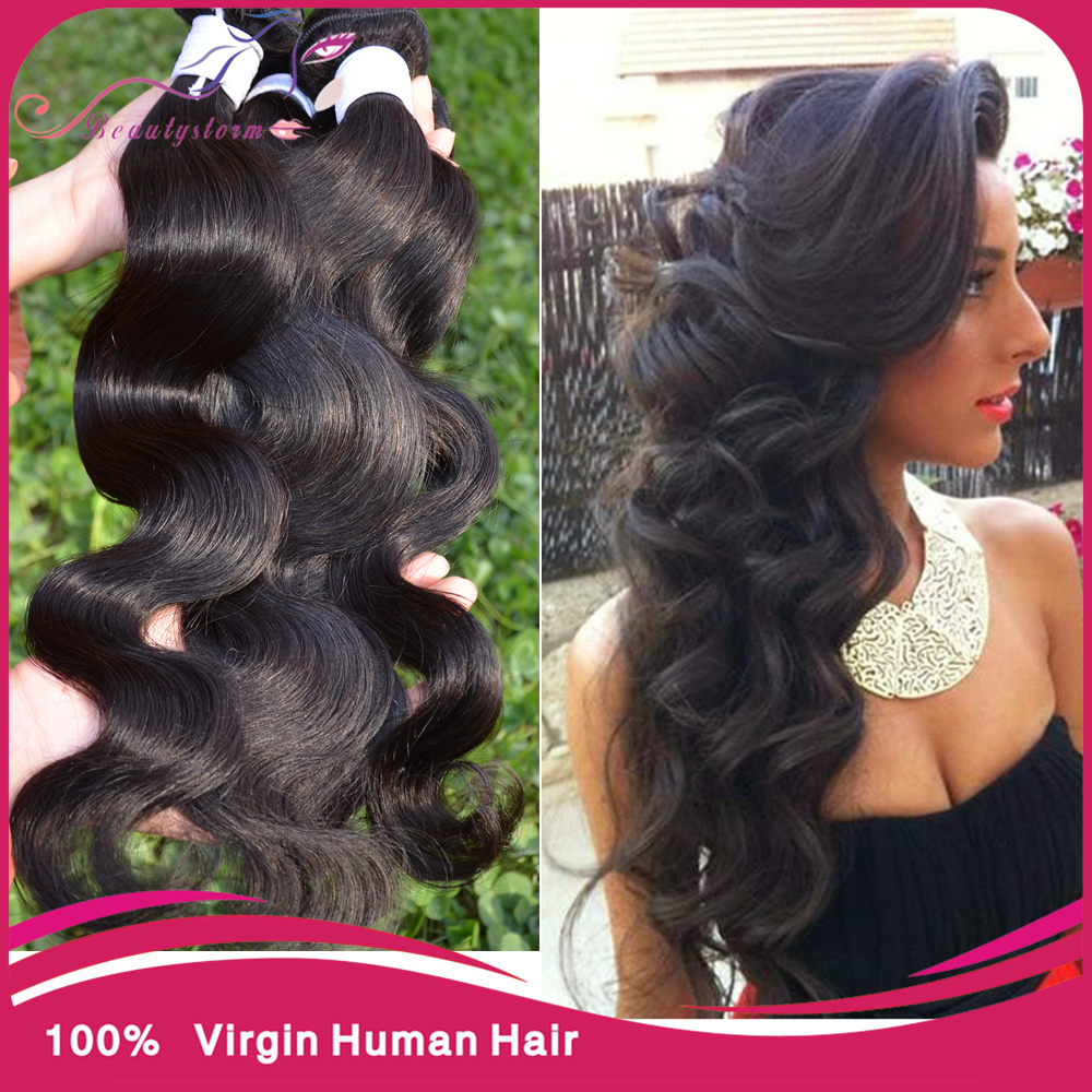 Peruvian virgin hair body wave 3 pcs Puruvian hair bundle deals,queen weave beauty Pervian body wave human hair extensions(China (Mainland))