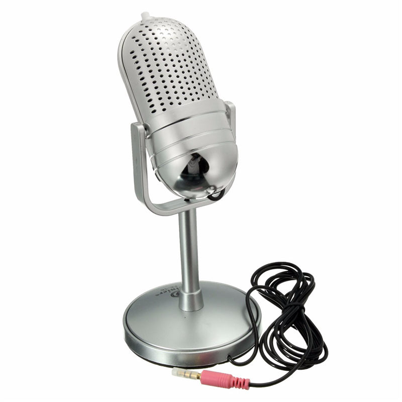 New 3.5mm Desktop Recording Singing External Microphon MIC Stand For Mac PC Computer Microphone Laptop Desktop Karaoke KTV(China (Mainland))