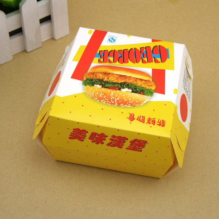 Paper Food Packaging Box For Chocolate Candy Biscuit Candy Food Packing Box Food Carton Hamburger Box(China (Mainland))
