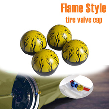 Car styling Christmas promotion Flame  style Car Valve Cap , tire valve cap , EMS fast  Deliveried(China (Mainland))