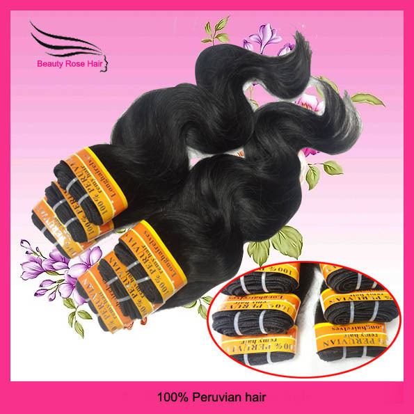 Fast DHL free shipping,100% humanhair extension,Peruvian body wave  hair weft,6pcs/lot 12-28inch