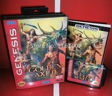 Sega MD game – GoldenAxe 2 Genesis Cover with Box and Manual for 16 bit Sega MD game Cartridge Megadrive Genesis system