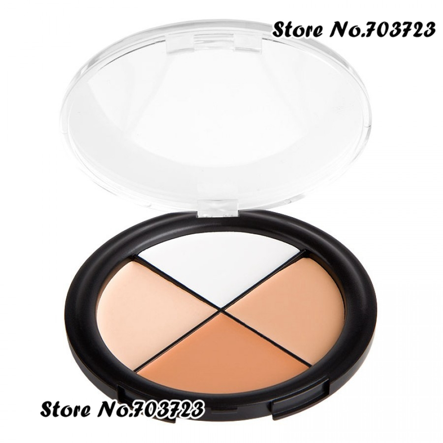 Convenient Palette 4 Color Concealer Palette Camo Quad medium skin tones 1# N01(China (Mainland))