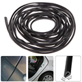 Hot 6M Black Moulding Trim Strip Car Door Scratch Protector Edge Guard Cover Crash Rubber Sealing