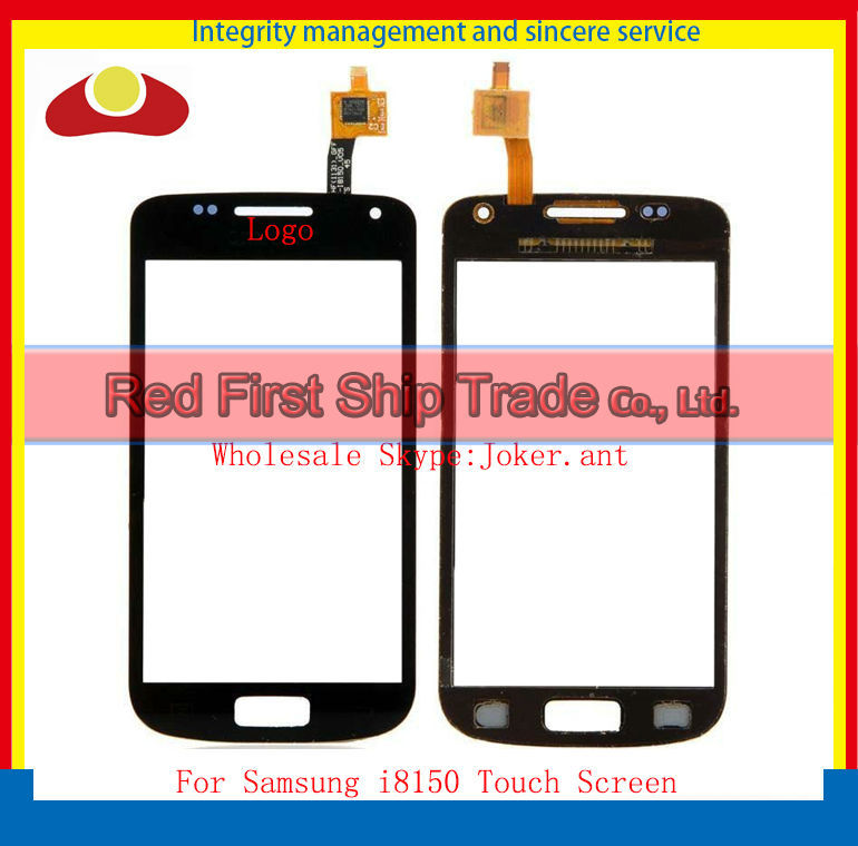 10Pcs/lot Original For Samsung GALAXY W i8150 Touch Screen Digitizer Sensor Front Glass Lens Black and White