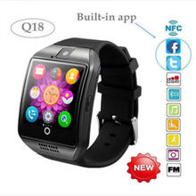 Q18 Smart Watch Arc Clock Support Sim TF Card Bluetooth NFC Connection with Camera For Apple IOS Android Phone Smartwatch