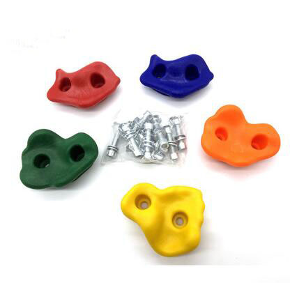 5Pcs/Set Outdoor Indoor Playground Plastic Rock Climbing Holds Wall Set Kit Rock Stones Backyard Kids Toys With Screw P504