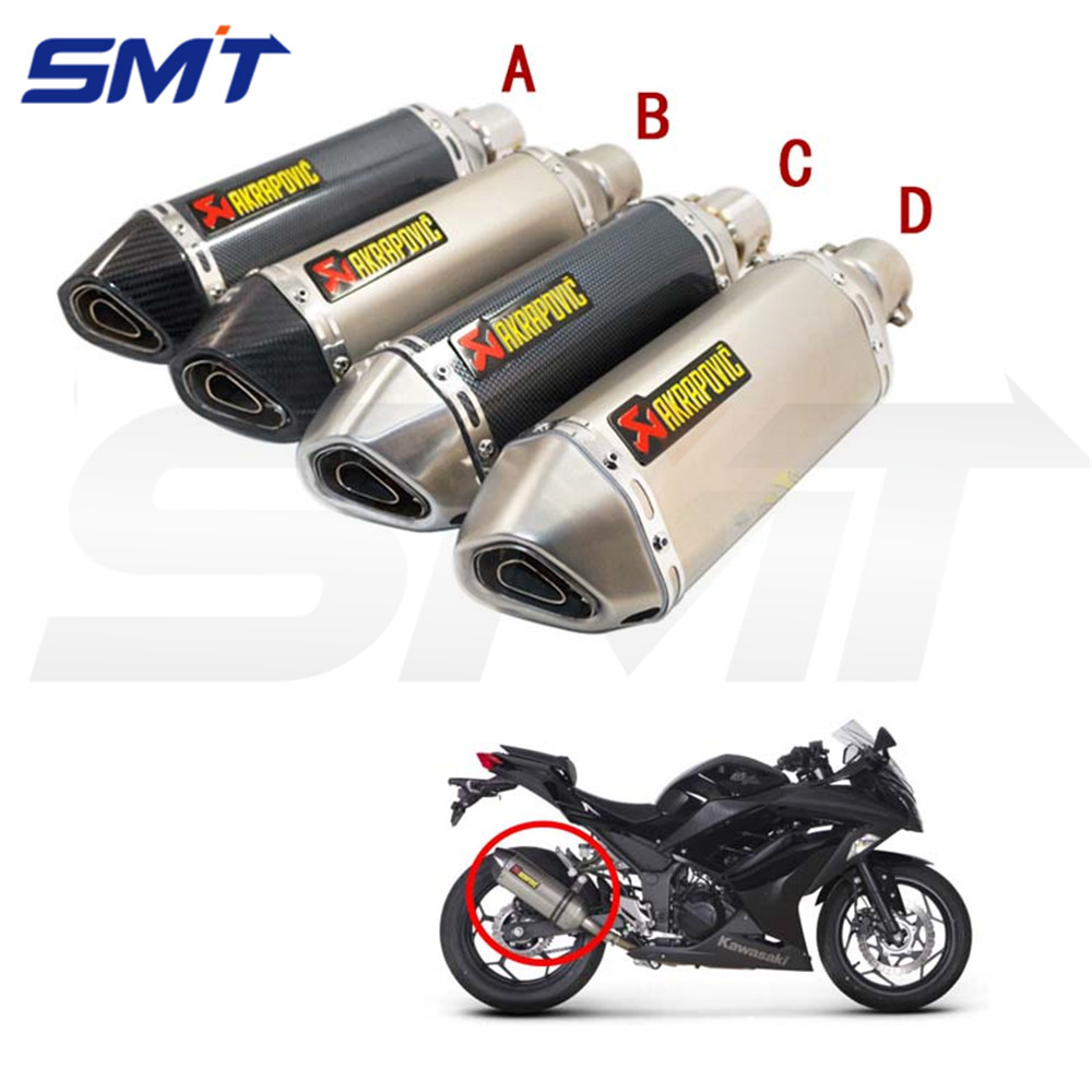 New style modified motorcycle akrapovic exhaust pipe for Yamaha parts store
