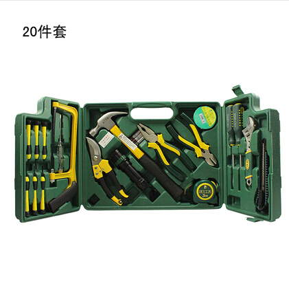 Multifunction metal toolbox household tool set combination of electrical maintenance manual tool sets 20 sets(China (Mainland))