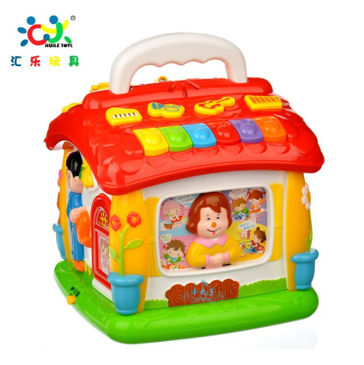 Free Shipping Multifunctional Musical Toys NEW Colorful Babys Stories House Many Kinds Of Music Learning &amp; EducationToys<br><br>Aliexpress