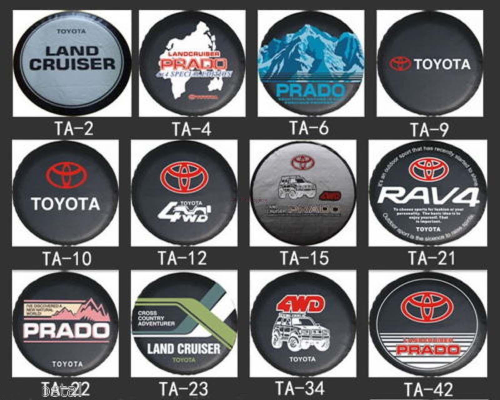 Free Shipping 16 Inch New Universal Spare Wheel Tyre Tire Cover PU For TOYOTA RAV4 Highlander