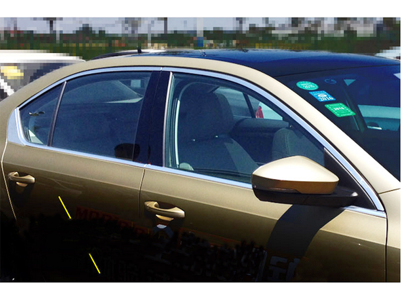 14pcs Stainless Steel Window Sill Frame Cover Trim Full Kit Without Pillar Covers For Skoda Octavia A7 MK3 2015 2016
