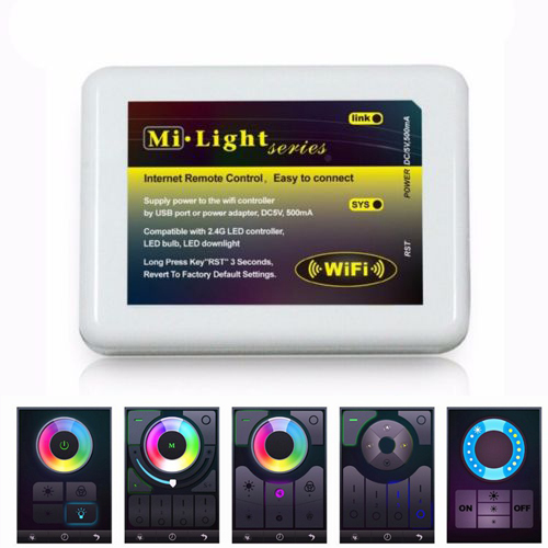 2015 Dimmable Mi Light Wireless Wifi LED Remote Controller iOS Android APP for 2.4G Smart Light RGBW RGB Lamp Bulb Strip light(China (Mainland))