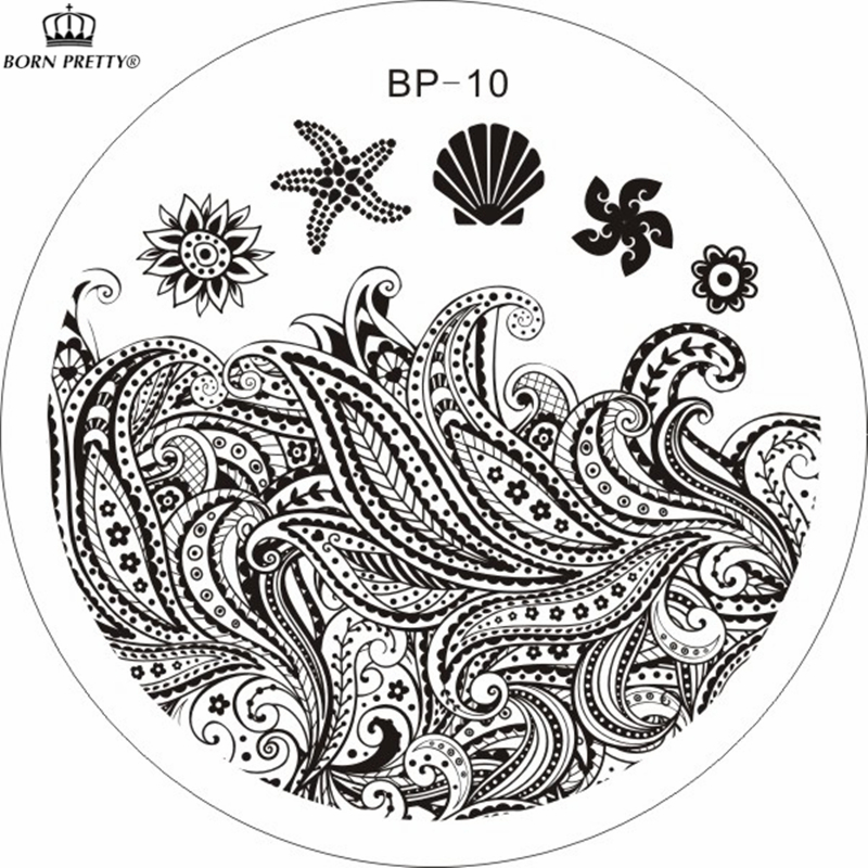 Starfish &amp; Shell Theme Nail Art Stamp Template Image Plate BORN PRETTY BP10 <br><br>Aliexpress