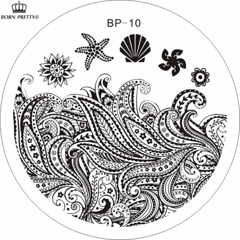 Starfish & Shell Theme Nail Art Stamp Template Image Plate BORN PRETTY BP10(China (Mainland))