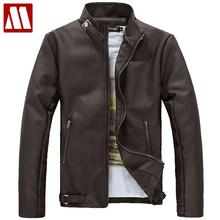 New arrival men's clothing Casual slim motorcycle leather Jackets male Pu leather Turtleneck jacket Men's outerwear Asia S-XXXL(China (Mainland))