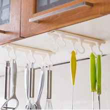 Practical Kitchen cabinets ceiling hook with 6 hooks Desk Cupboards Hanging Rack rod wall hook organizer Kitchen Accessories(China (Mainland))