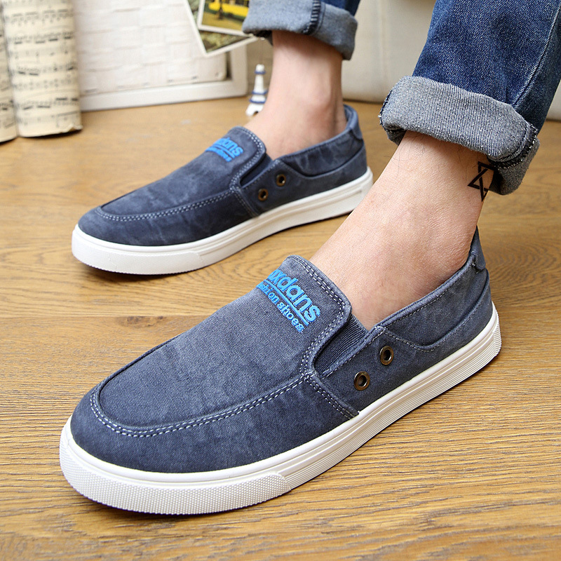 Hot Sale Summer Canvas Shoes Mens British Style Lace-up Flat Casual Shoes Men Euro Size 39-44 Zapatillas Retail(China (Mainland))