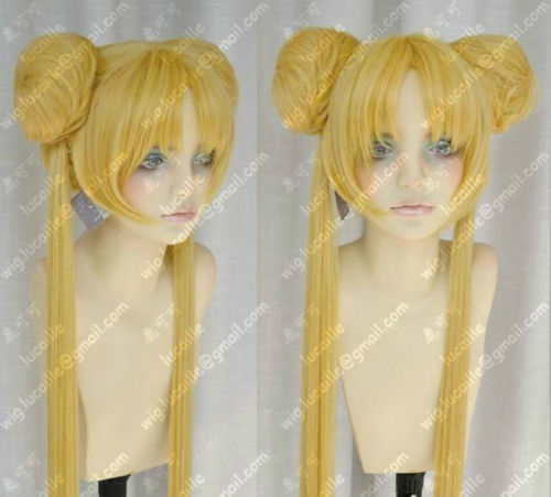 FREE SHIPPING ! ! ! Sailor Moon Wig New Long Warm Blonde Cosplay Party Wigs<br><br>Aliexpress