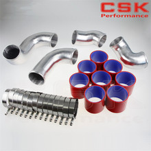 Buy FRONT MOUNT INTERCOOLER PIPE PIPING KIT FOR SKYLINE R33 R34 GTR RB26DETT RED for $85.03 in AliExpress store