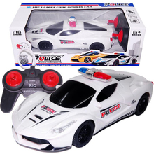 Buy 2016 1:18 4CH Police RC Car Model Baby Toys 4 Channels Remote Control Car Micro Racing Cars Kids Gifts Toys Children for $12.56 in AliExpress store