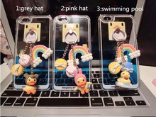 The new small yellow duck ring tassel pendant phone holder mobile stent for mobile devices mobile strap(China (Mainland))