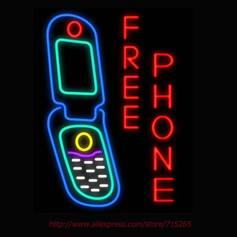 Neon Sign Free Phone Real Glass Tube Handcrafted neon signs Custom Health Store Display Sports ADVERTISE Free Design 31x24(China (Mainland))