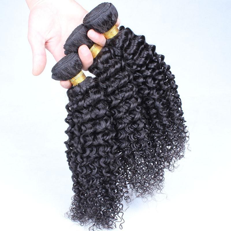 5A Brazilian Jerry curly virgin hair 3pcs/lot natural black human hair extension cheap brazilian virgin hair weave free shipping<br>