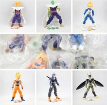 6pcs/set Dragonball Z Dragon Ball DBZ Anime 16cm Goku Vegeta Piccolo Gohan super saiyan Joint Movable Action Figure Toy