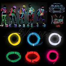 Buy 3 M Neon LED Strip Light Dance Party Car Decor Light Neon LED lamp Flexible EL Wire Rope Tube Waterproof Controller for $4.55 in AliExpress store