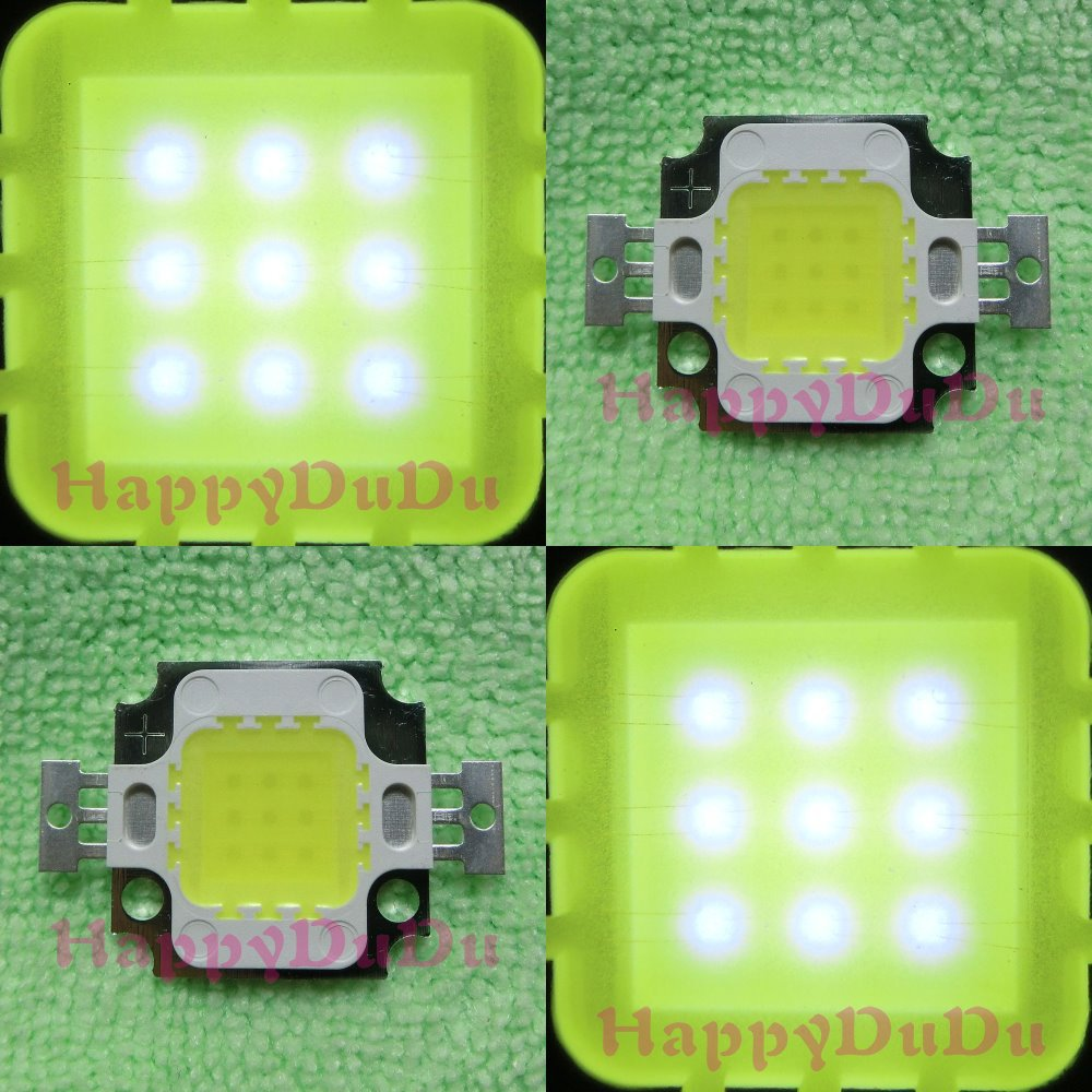 10pcs 10W Pure White 6000K High Power Bright LED 1000Lm-1100Lm Bulb Lamp Light for DIY 10Watt Tracking number(China (Mainland))
