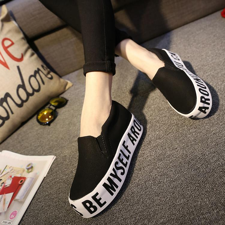 Free shipping  2015 In the spring  joker Black letters The streets of necessary Higher shoes womens shoes<br><br>Aliexpress