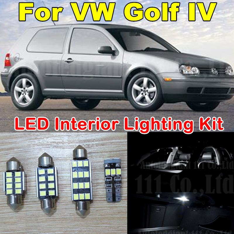 12X Canbus Pure White Error free Light Volkswagen VW GOLF 4 MK4 GTI 337 20ae R32 LED Interior light Kit Pack (1999-2005) - WLJH Carparts Store store