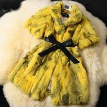QUEENFUR 2016 New Real Rabbit Fur Coat Fashion Women Rabbit Fur Jacket Nature Winter Warm Rabbit Fur Outwear(China (Mainland))