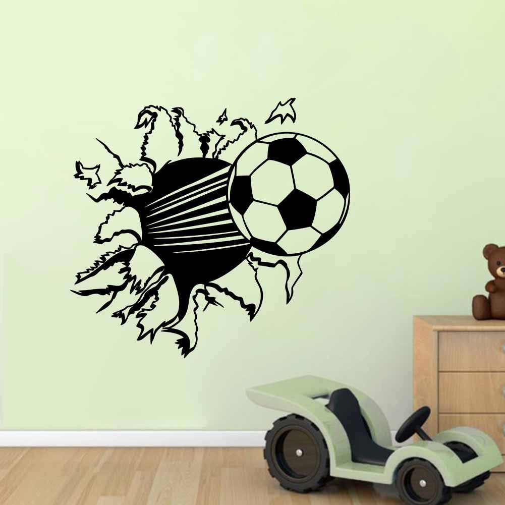 Football decorative vinyl wall sticker for kids rooms for Sports decals for kids rooms
