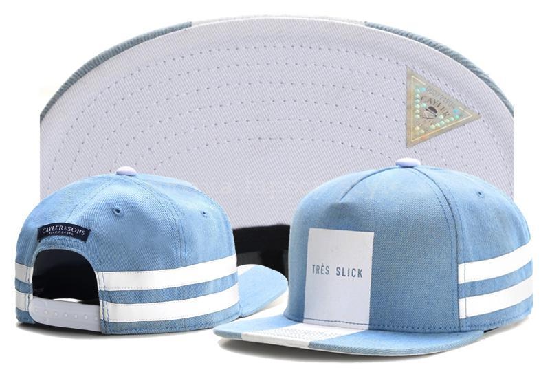 Hiphop TRES SLICK CAP light blue denim white snapback hat for men women adult sports hip hop street outdoor sun baseball cap(China (Mainland))