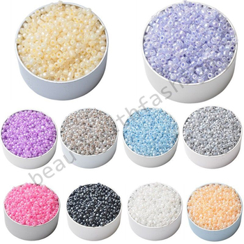3MM 1000pcs/lot Candy Color DIY/Handmade Round Loose Spacer Glass Seed Beads for Jewelry Making Wholesale Free Shipping ly
