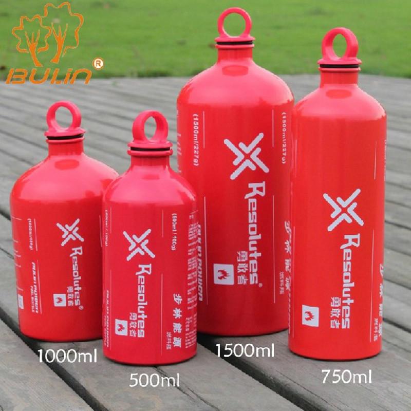 Bulin500ml 750ml 1000ml 1500ml thickening aluminum alloy oilstove fuel bottle tank - Adelle ma's store