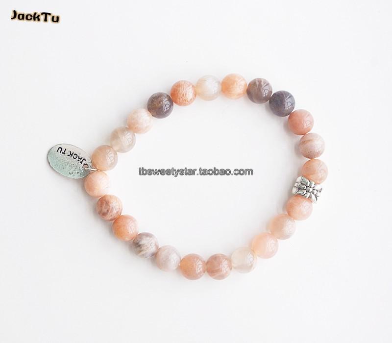 2015 large high quality sunstone jasper single friendship wrap bracelet(China (Mainland))
