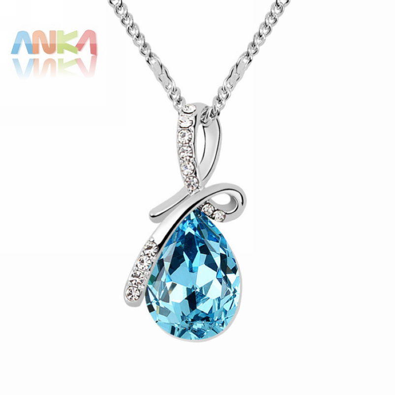 2016 Sale Trendy one direction water dorp necklaces & pendants Austria Crystal Jewelry colar feminino Free Shipping #95064(China (Mainland))