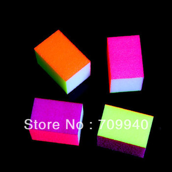 New Product !!  Free Shipping Acrylic 10pcs/pack 4 Side Grits Sanding Block , Nail Art Buffers File Item No.00800 Dropshipping