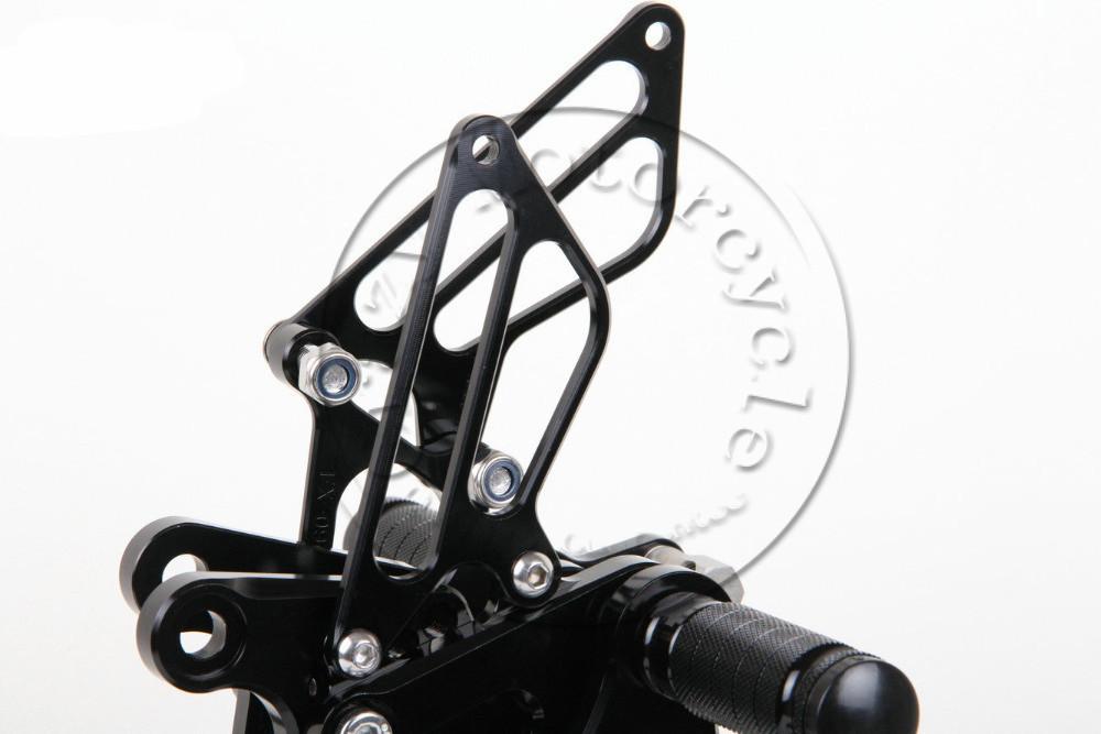 Motorcycle Rearsets CNC Adjustable Rear set Foot pegs For KAWASAKI ZX6R ZX6 R 2009-2013 BLACK 2010 2011 2012 Motorbike